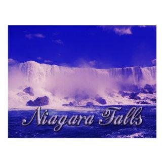 Niebla fría del invierno en Niagara Falls Tarjetas Postales