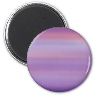 Niebla púrpura de la luna imán redondo 5 cm