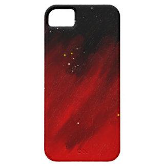 Niebla roja del espacio funda para iPhone 5 barely there
