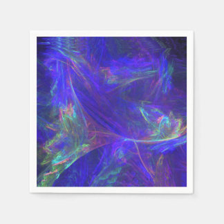 Nieblas coloridas azules abstractas servilletas de papel
