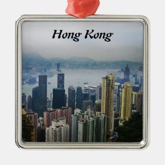 Nieblas del puerto de Hong Kong Ornamentos De Reyes