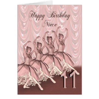 Niece age 11, a ballerina birthday card