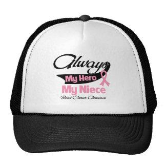 Niece - Always My Hero - Breast Cancer Trucker Hat