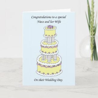 Niece and wife wedding congratulations card