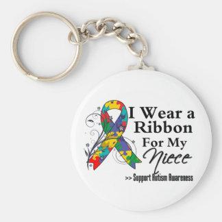 Niece - Autism Ribbon Keychain