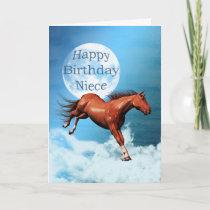 Niece birthday card with spirit horse