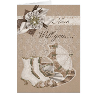 Niece Bridesmaid, Will you be my Bridesmaid? Greeting Card