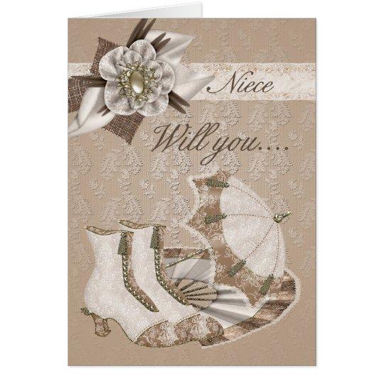 Niece Bridesmaid, Will you be my Bridesmaid? Card
