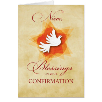 Niece, Confirmation Congratulations Blessings Dove Card