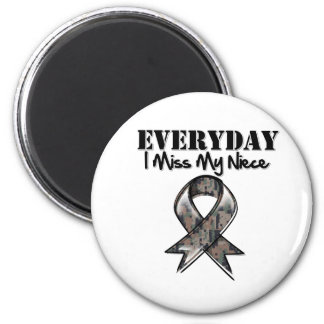 Niece - Everyday I Miss My Hero Military 2 Inch Round Magnet