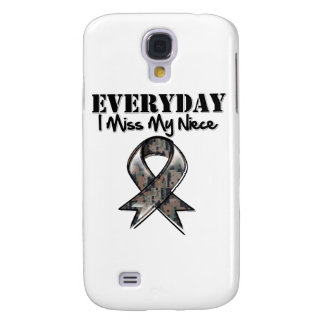 Niece - Everyday I Miss My Hero Military Samsung Galaxy S4 Cover