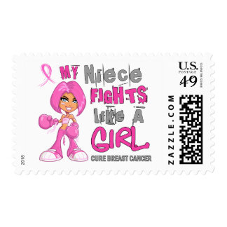 Niece Fights Like Girl Breast Cancer 42 9 png Postage Stamps