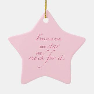 Niece Graduation Star, Custom Gift Ceramic Ornament