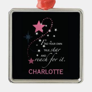 Niece Graduation Star, Custom Gift Metal Ornament