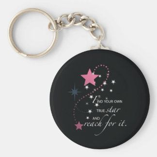 Niece Graduation Star, Gift, Custom Round Gifts Keychain