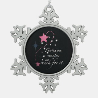 Niece Graduation Star, Gift, Custom Round Gifts Snowflake Pewter Christmas Ornament