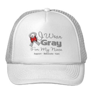 Niece - Gray Ribbon Awareness Trucker Hats