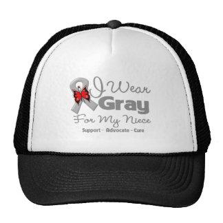 Niece - Gray Ribbon Awareness Mesh Hat