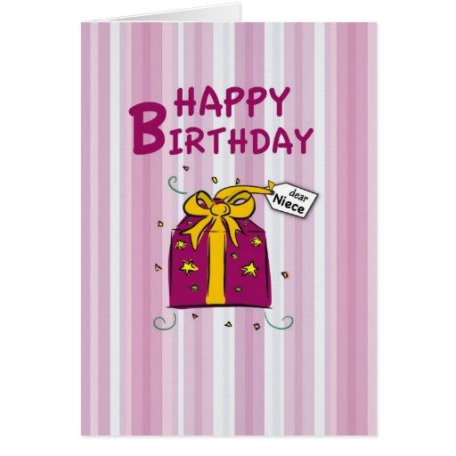 Niece, Happy Birthday Greeting Card