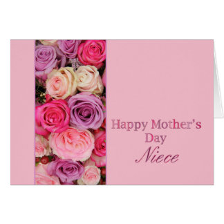 Niece   Happy Mother's Day rose card