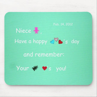 Niece, Happy Valentine's Day Mouse Pad
