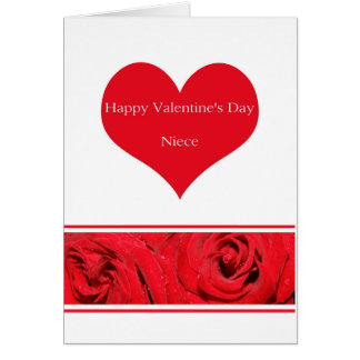 Niece  Happy Valentine's Day Roses Card