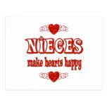 Niece Hearts Postcard