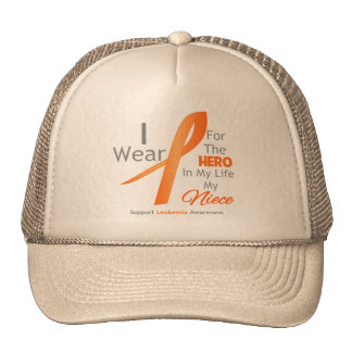 Niece - Hero in My Life - Leukemia Trucker Hat