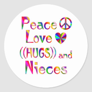Niece Hugs Classic Round Sticker