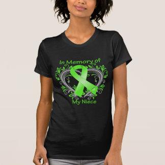 Niece - In Memory Lymphoma Heart Tee Shirts