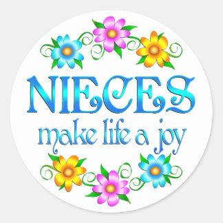 Niece Joy Classic Round Sticker