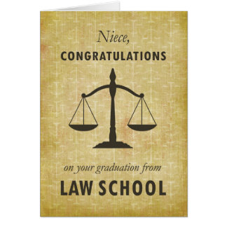 Niece, Law School Graduation Congratulations Sc Card