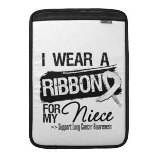 Niece Lung Cancer Ribbon MacBook Sleeve