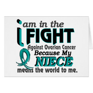 Niece Means World To Me Ovarian Cancer Greeting Cards