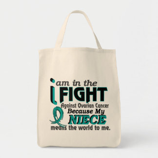 Niece Means World To Me Ovarian Cancer Tote Bag