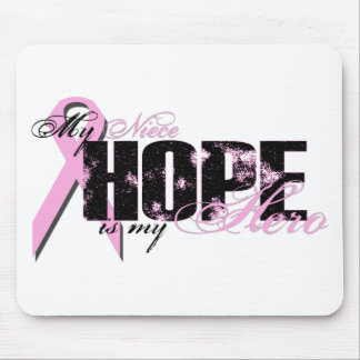 Niece My Hero - Breast Cancer Hope Mouse Pad