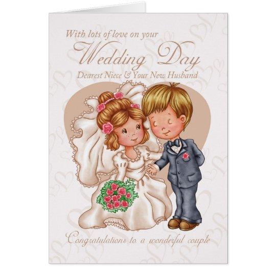 Niece & New Husband Wedding Day Card with love | Zazzle.com  Niece