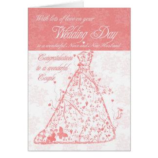 Niece & New Husband wedding day congratulations Card