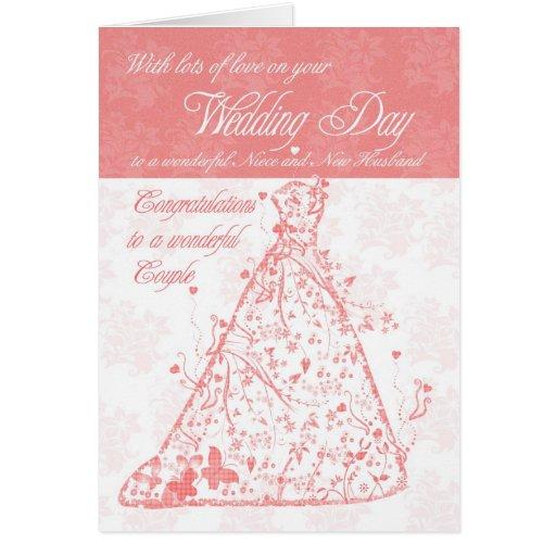 Niece & New Husband wedding day congratulations Card | Zazzle  Niece