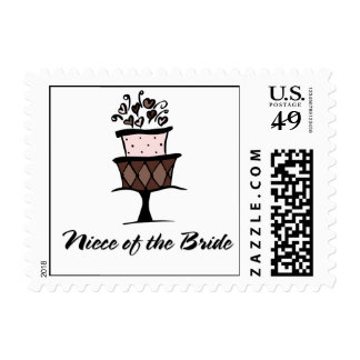 Niece of the Bride Cake Postage Stamp