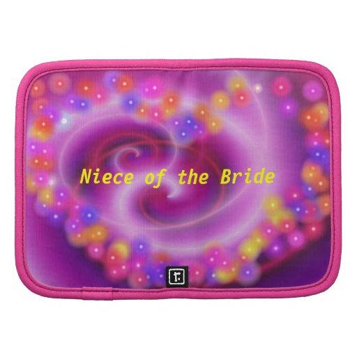 Niece of the Bride Swirly Heart Planner