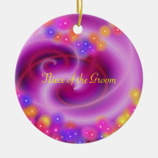 Niece of the Groom Swirly Heart Ornament