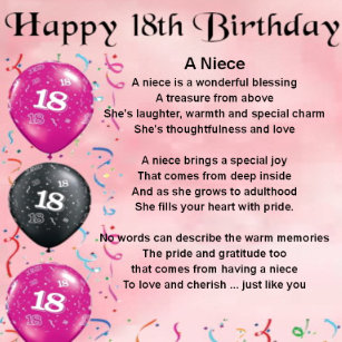 Nieces 18th Birthday Gifts On Zazzle