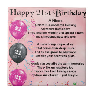 Nieces 21st Birthday Gifts On Zazzle