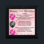 """Niece Poem - 21st Birthday Jewelry Box<br><div class=""""desc"""">A great gift for a niece on her 21st birthday</div>"""