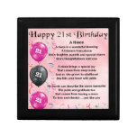 Niece Poem - 21st Birthday Jewelry Box<br><div class='desc'>A great gift for a niece on her 21st birthday</div>