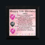 "Niece Poem - 30th Birthday Keepsake Box<br><div class=""desc"">A great gift for a niece on her 30th birthday</div>"