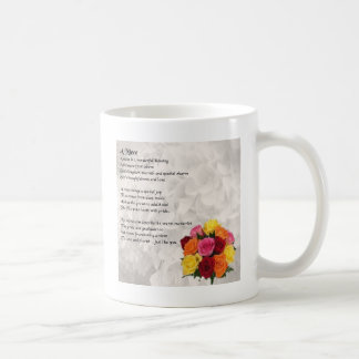 Niece Poem - Flowers Basic White Mug