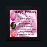 """Niece Poem - Happy Birthday Jewelry Box<br><div class=""""desc"""">A great gift for a niece on her birthday</div>"""