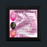 "Niece Poem - Happy Birthday Jewelry Box<br><div class=""desc"">A great gift for a niece on her birthday</div>"